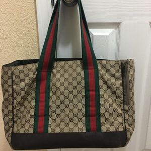 Authentic Gucci dog carrier bag